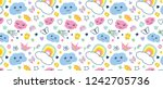 pattern with decorative... | Shutterstock .eps vector #1242705736