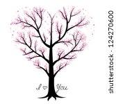 love tree  heart shaped | Shutterstock .eps vector #124270600