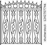 wrought iron gate  ornamental... | Shutterstock .eps vector #1242707746