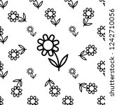 flower icon  abstract flower... | Shutterstock .eps vector #1242710056