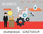 set of 3d infographic business... | Shutterstock .eps vector #1242710119