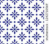 porcelain pattern  abstract... | Shutterstock .eps vector #1242710569