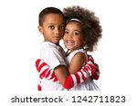 portrait of a preschool african ... | Shutterstock . vector #1242711823