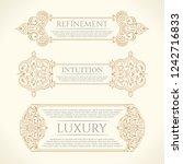 vintage set horizontal retro... | Shutterstock .eps vector #1242716833