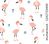 seamless pattern with funny...   Shutterstock .eps vector #1242723400