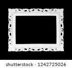 white carved stone frame... | Shutterstock . vector #1242725026