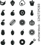 solid black vector icon set  ... | Shutterstock .eps vector #1242729283