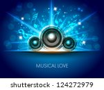 abstract musical flyer with... | Shutterstock .eps vector #124272979