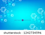 modern futuristic background of ... | Shutterstock .eps vector #1242734596