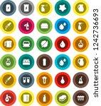 white solid icon set  sponge...   Shutterstock .eps vector #1242736693