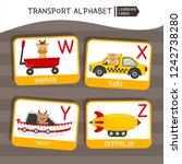 Vector Cute Kids Transport...