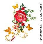 decorative ornament  paisley... | Shutterstock . vector #1242740356