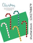 christmas sale banner with copy ... | Shutterstock .eps vector #1242748879