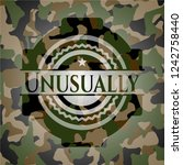 unusually camouflage emblem | Shutterstock .eps vector #1242758440