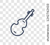 double bass icon. trendy linear ... | Shutterstock .eps vector #1242762433
