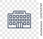 museum icon. trendy linear... | Shutterstock .eps vector #1242765769