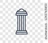 antique column icon. trendy... | Shutterstock .eps vector #1242765853