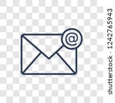 mail icon. trendy linear mail... | Shutterstock .eps vector #1242765943