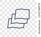 map layer icon. trendy linear... | Shutterstock .eps vector #1242768970