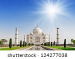 taj mahal  agra  uttar pradesh  ... | Shutterstock . vector #124277038