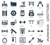 elements such as machine  gym... | Shutterstock .eps vector #1242774280