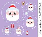 christmas card  santa snowman... | Shutterstock .eps vector #1242775360