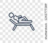 woman sunbathing icon. trendy...   Shutterstock .eps vector #1242777289