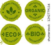 organic food  farm fresh and... | Shutterstock .eps vector #1242779116
