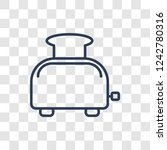 toaster icon. trendy linear... | Shutterstock .eps vector #1242780316