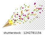bright party cracker with... | Shutterstock .eps vector #1242781156