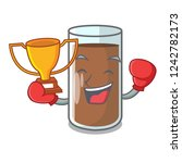 boxing winner the delicious on... | Shutterstock .eps vector #1242782173