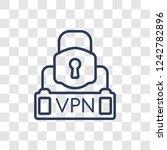 virtual private network icon.... | Shutterstock .eps vector #1242782896