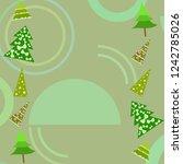 christmas card  fir tree ... | Shutterstock .eps vector #1242785026