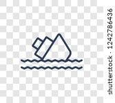 Sinking Icon. Trendy Linear...