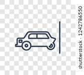 frontal crash icon. trendy... | Shutterstock .eps vector #1242786550