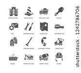 helmet  cement truck ... | Shutterstock .eps vector #1242786706