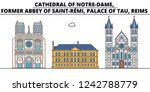 cathedral of notre dame  former ... | Shutterstock .eps vector #1242788779