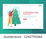 design winter holidays landing... | Shutterstock .eps vector #1242793366