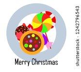 christmas card  christmas candy ... | Shutterstock .eps vector #1242796543