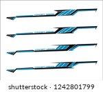 vinyls sticker set decals for... | Shutterstock .eps vector #1242801799