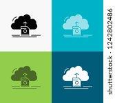 cloud  upload  save  data ... | Shutterstock .eps vector #1242802486