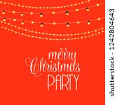 merry christmas party orange... | Shutterstock .eps vector #1242804643