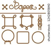set ropes  knots and frames of... | Shutterstock .eps vector #1242805840