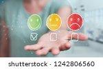 businesswoman on blurred... | Shutterstock . vector #1242806560