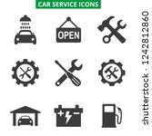 car service and repair icons... | Shutterstock .eps vector #1242812860