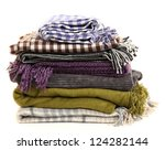 warm plaids isolated on white | Shutterstock . vector #124282144
