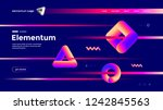 geometric shapes composition... | Shutterstock .eps vector #1242845563