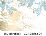 christmas tree cone painting... | Shutterstock .eps vector #1242856609