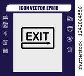 exit symbol icon vector   Shutterstock .eps vector #1242864556