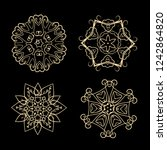 lacy new year snowflakes set on ...   Shutterstock .eps vector #1242864820
